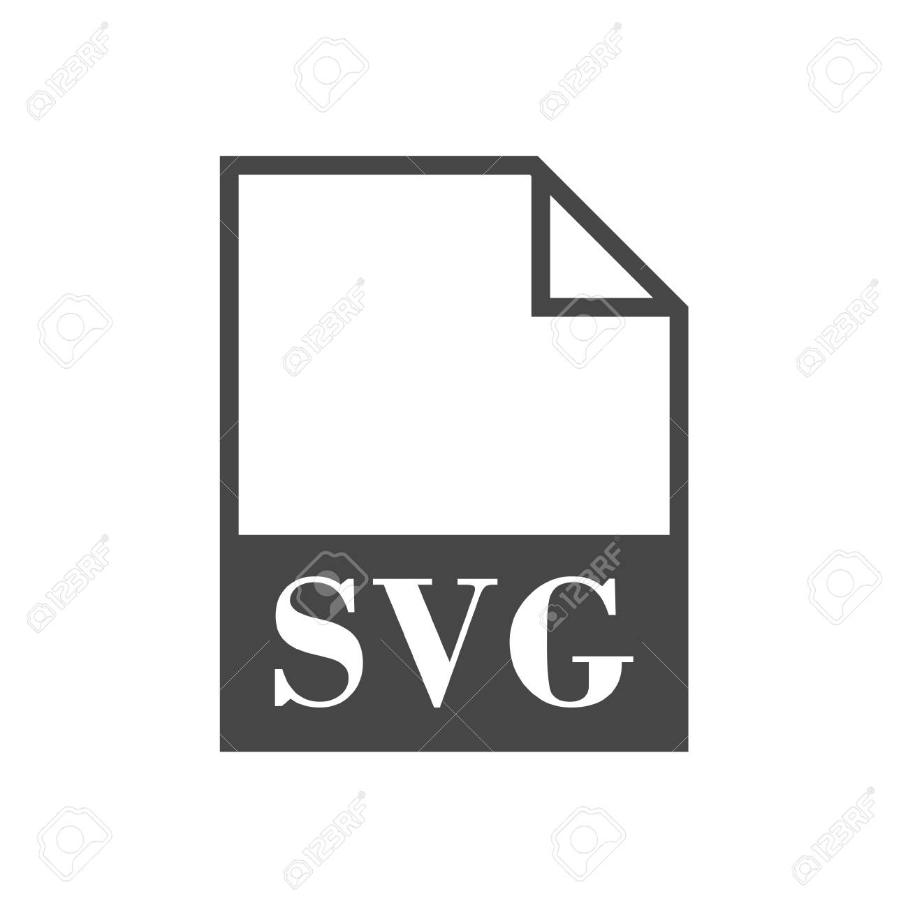 SVG file icon with long shadow Stock Vector - 56625370