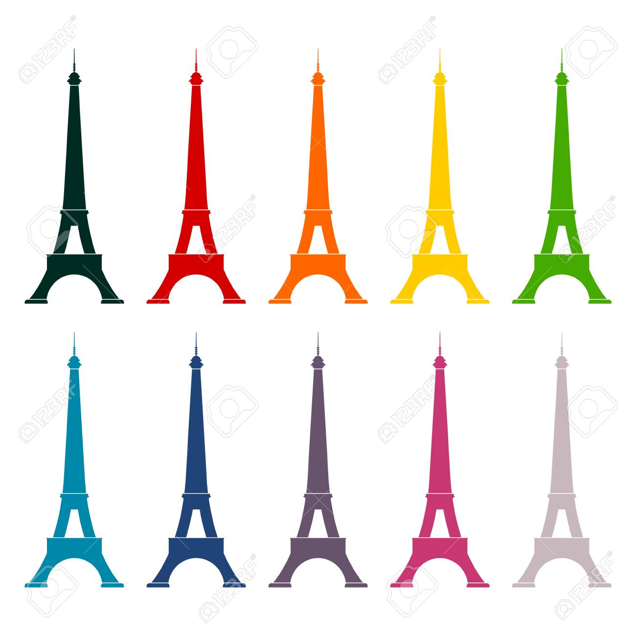Eiffel tower vector illustration icons set royalty free cliparts eiffel tower vector illustration icons set stock vector 58074298 thecheapjerseys Gallery