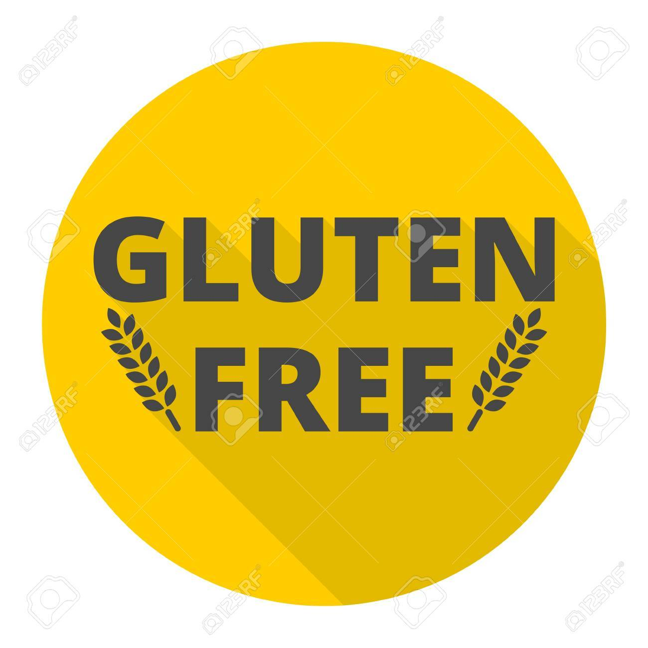 Gluten Free Icon With Long Shadow Royalty Free Cliparts, Vectors