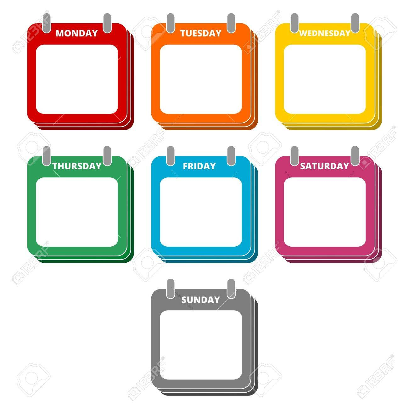 Image result for days of the week clipart