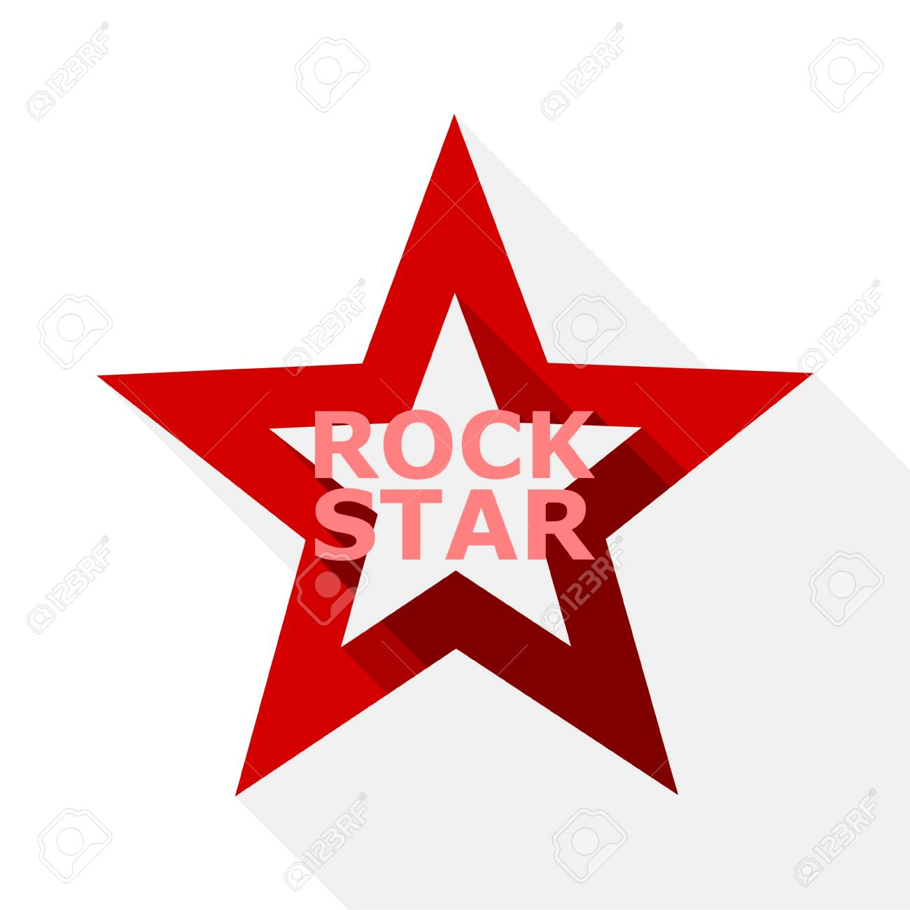 Rock Star Design Icon With Long Shadow Royalty Free Cliparts