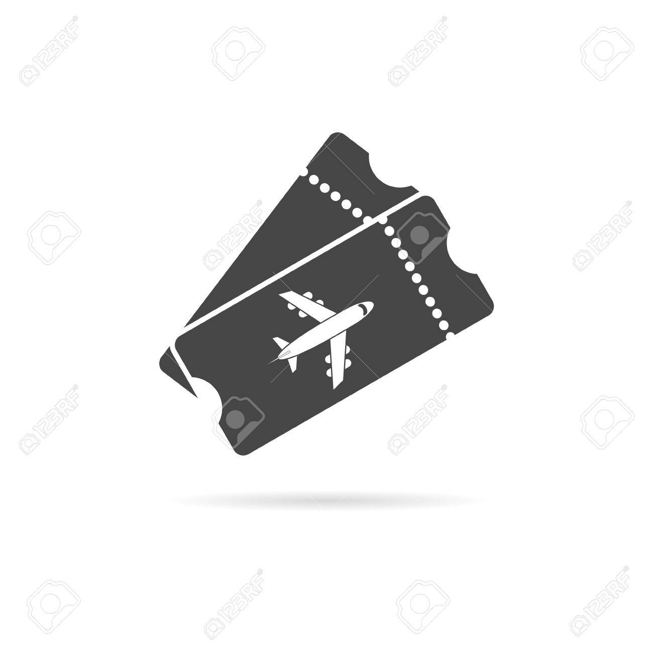 Flight Ticket Icon Stock Vector