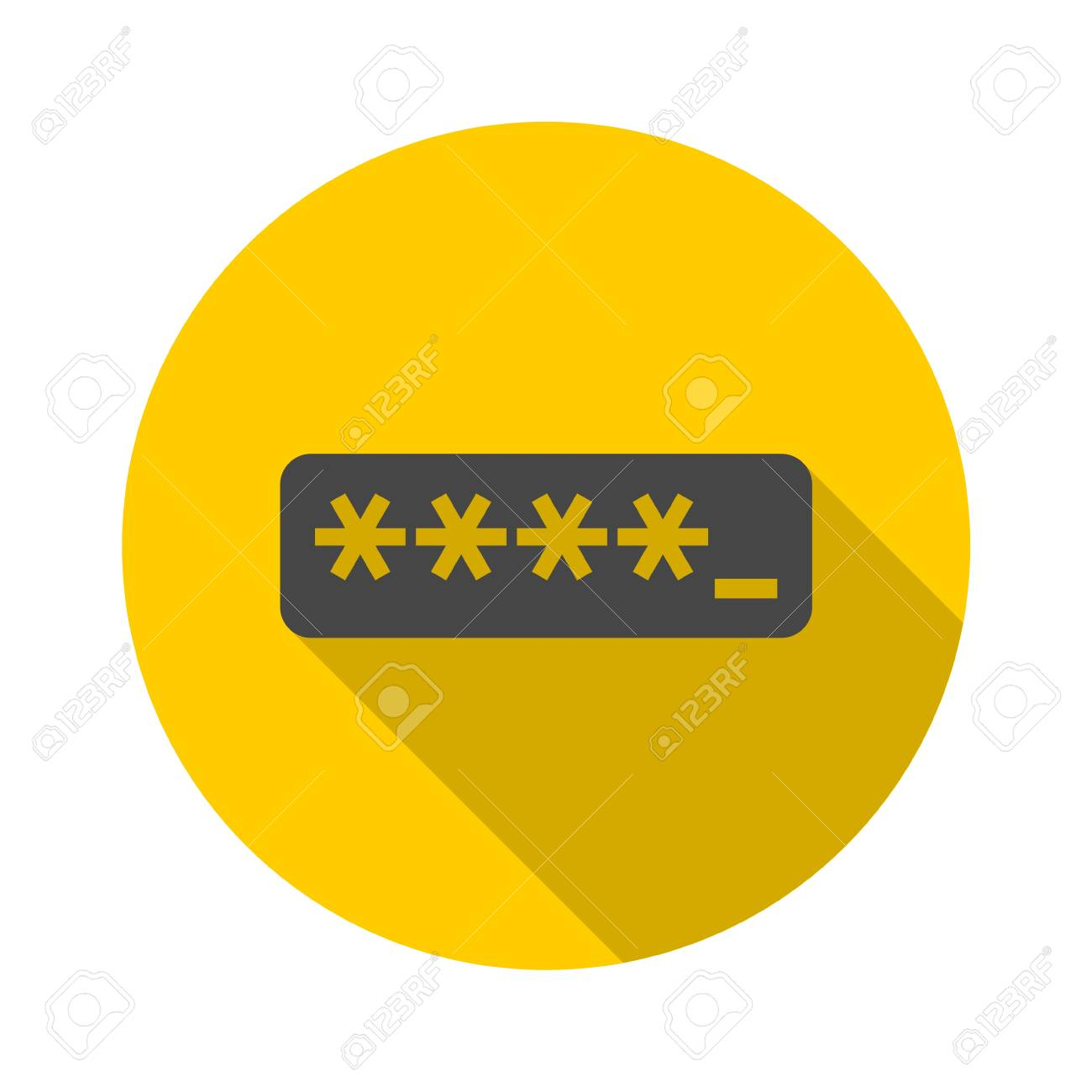 123Rf Password password typing icon with long shadow royalty free cliparts, vectors