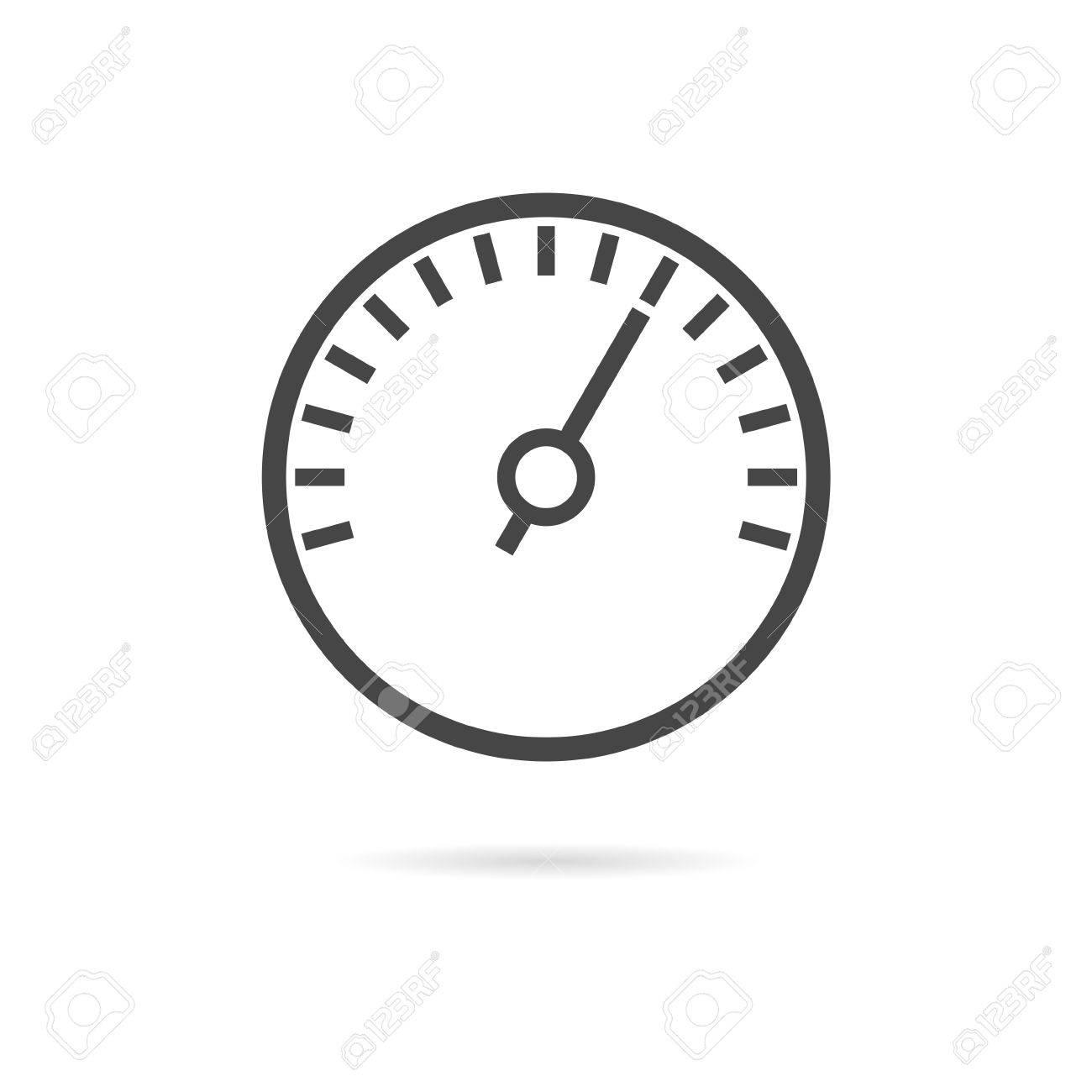 Meter Icons, Symbols Of Speedometers, Manometers Royalty Free ...