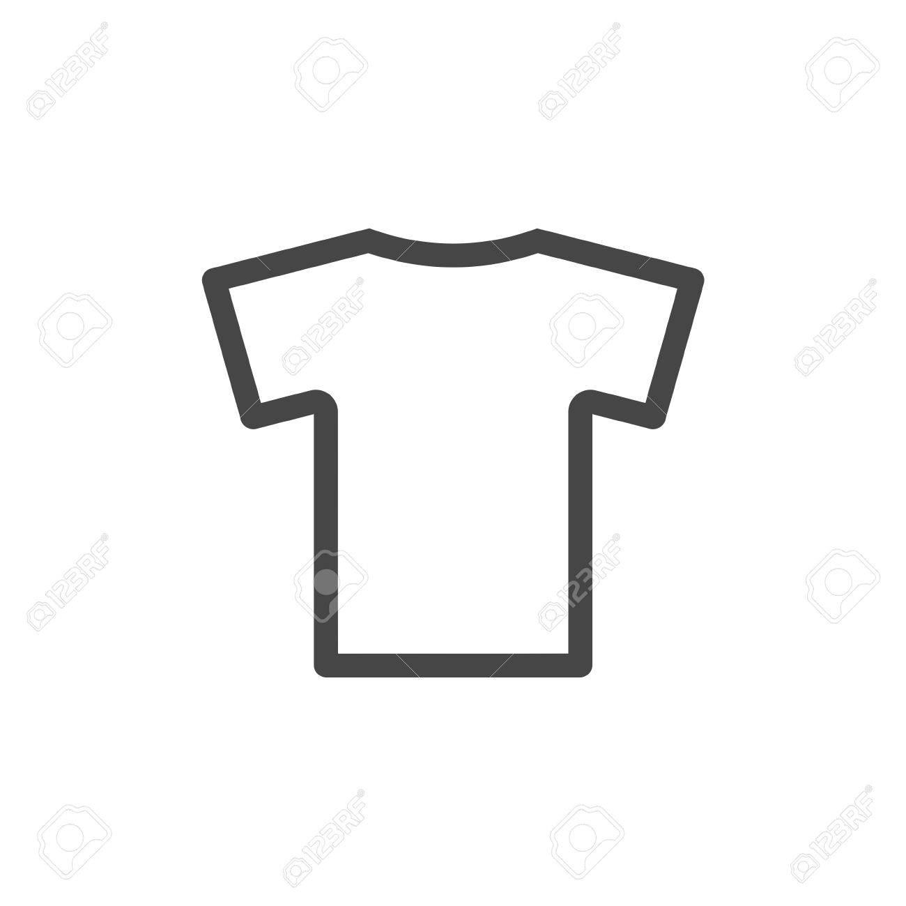 Camiseta Del Icono Del Vector ed91878b265fa