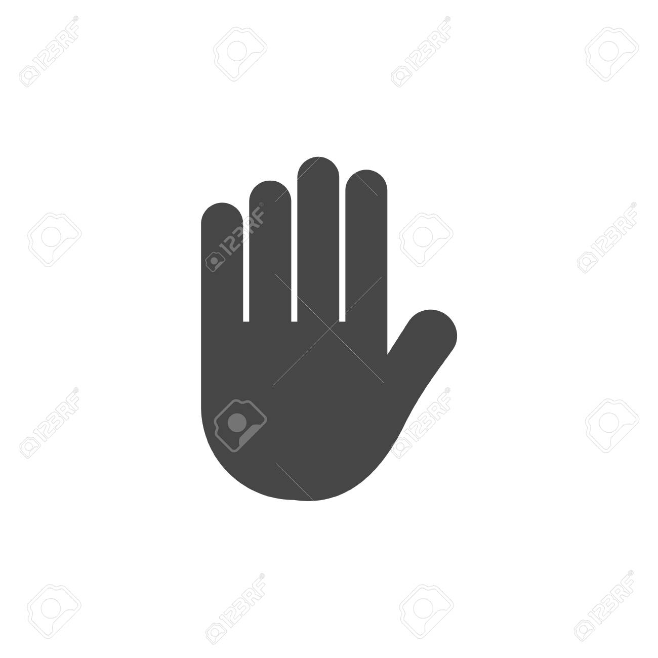 Stop Hand Icon Vector Royalty Free Cliparts Vectors And Stock