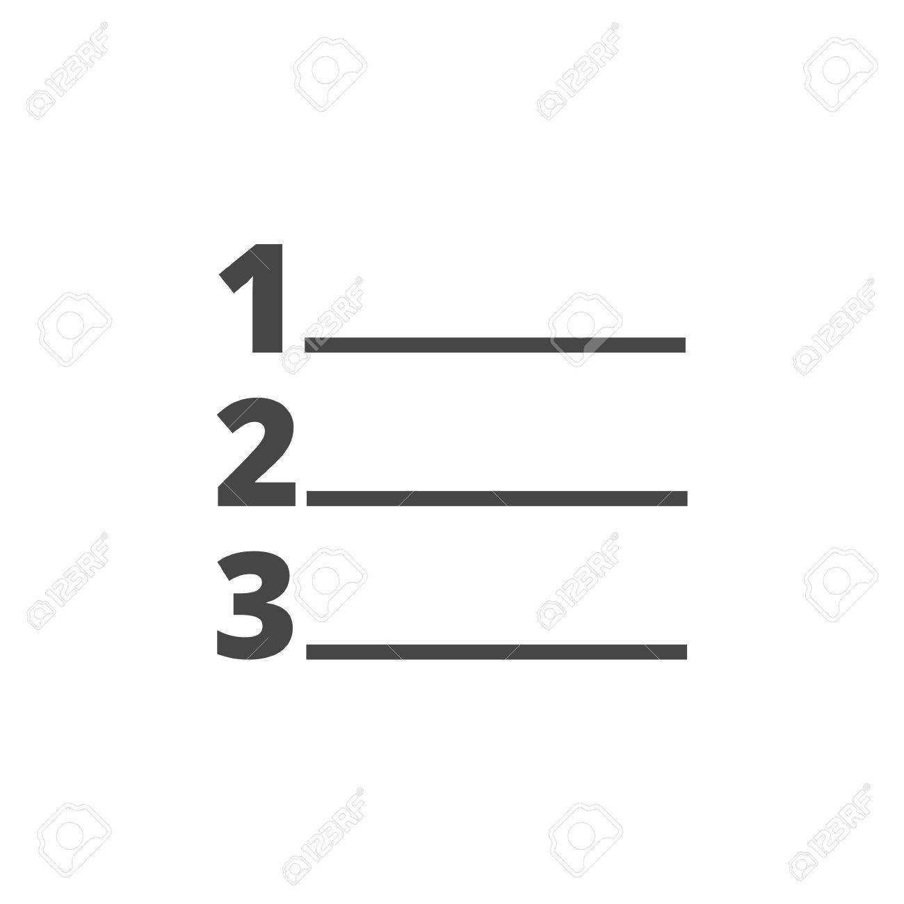 numbered list icon royalty free cliparts, vectors, and stock