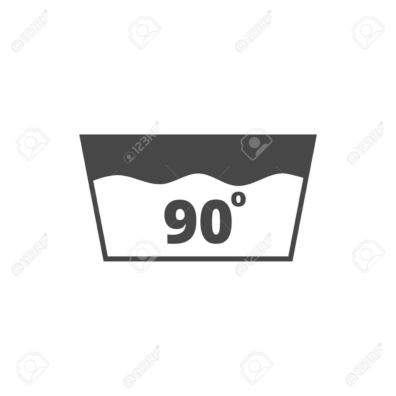 Wash Icon Machine Washable At 90 Degrees Symbol Royalty Free