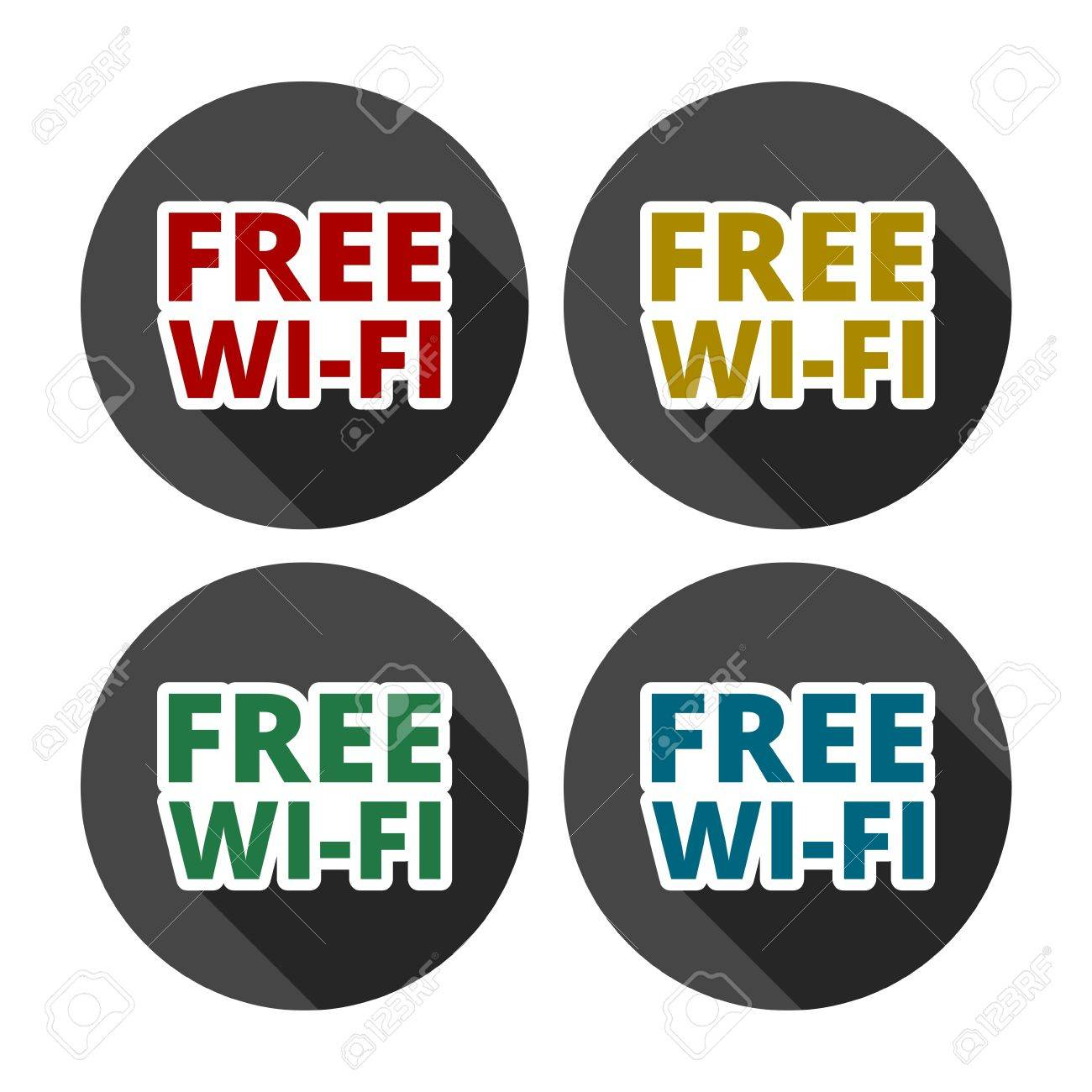 colorful wifi free icons for business or commercial use royalty free