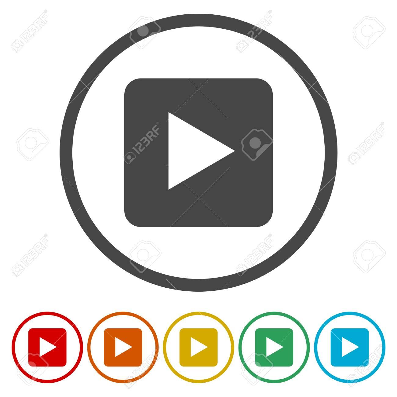 fce93ca334 Botón Reproducir Vídeo Ilustraciones Vectoriales, Clip Art ...