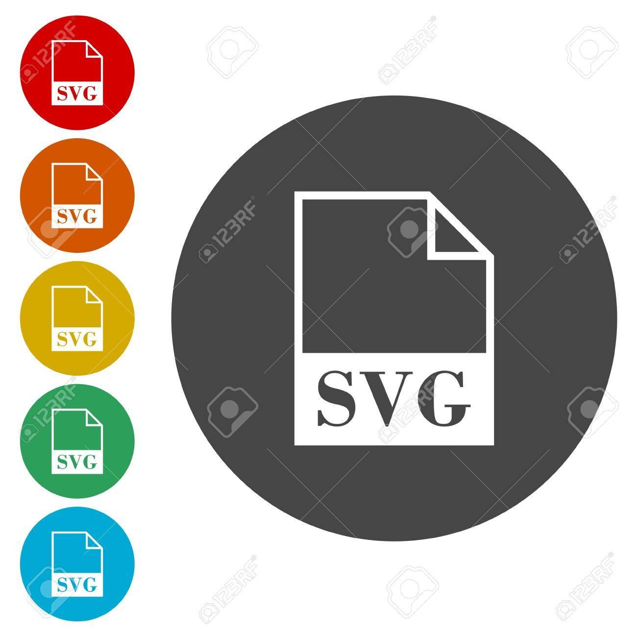 SVG file icons set Stock Vector - 77686882
