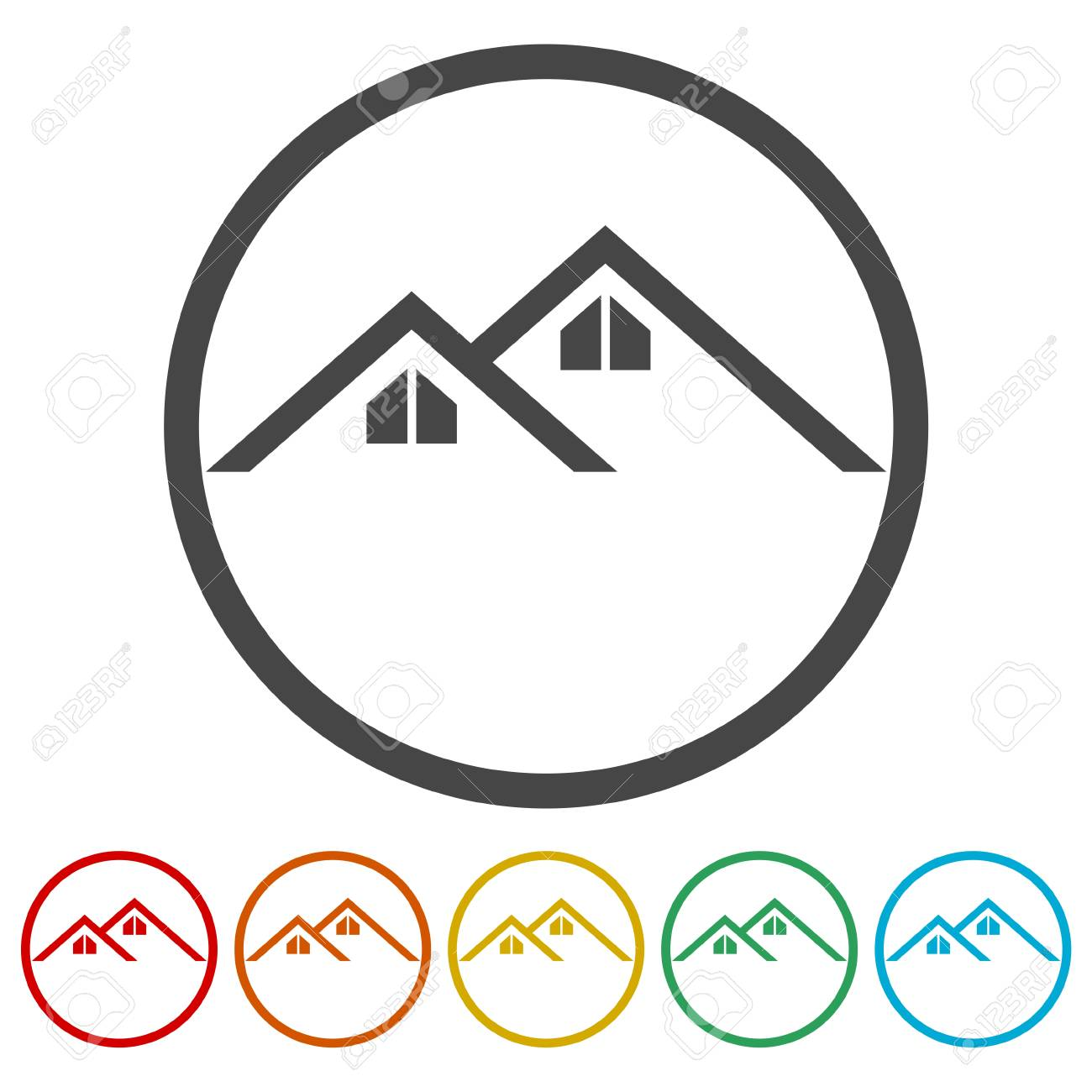 Home Roof Icon Royalty Free Cliparts Vectors And Stock