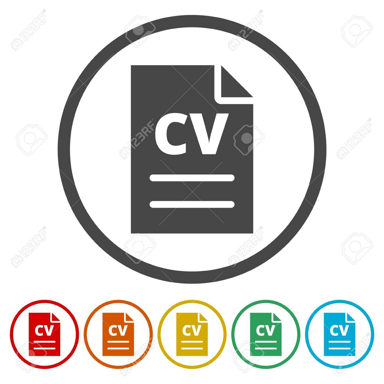 cv icon cv resume icon stock vector 88263828 - Resume Icon