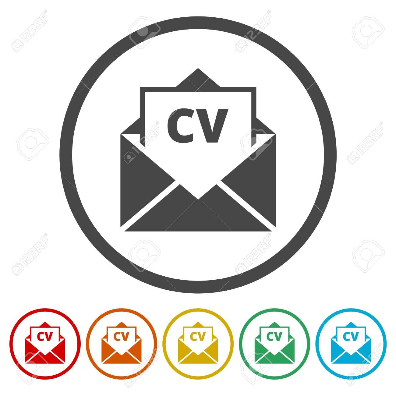 cv icon cv resume icon stock vector 88263826 - Resume Icon