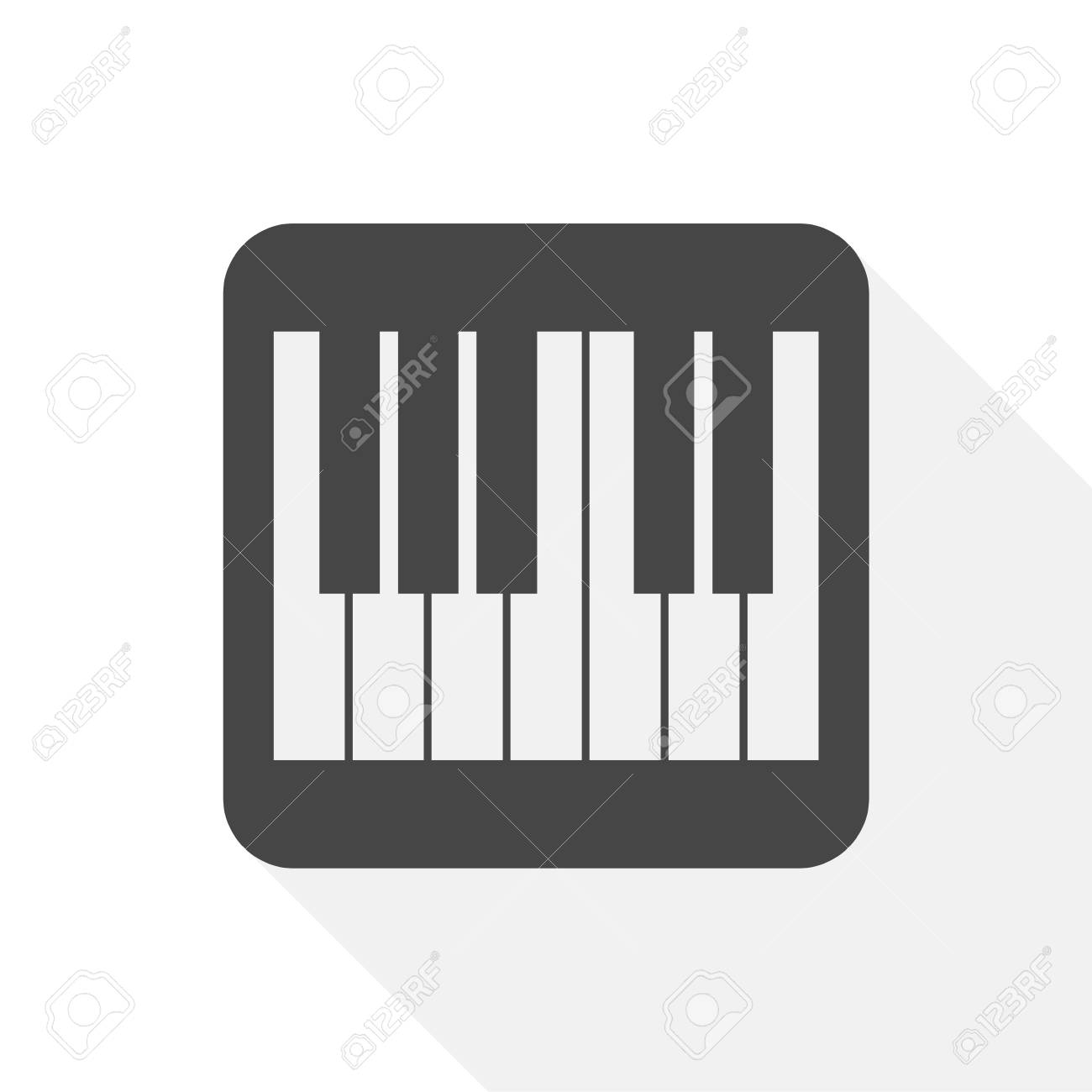 Piano Icon Flat Graphic Design Vector Illustration Stock