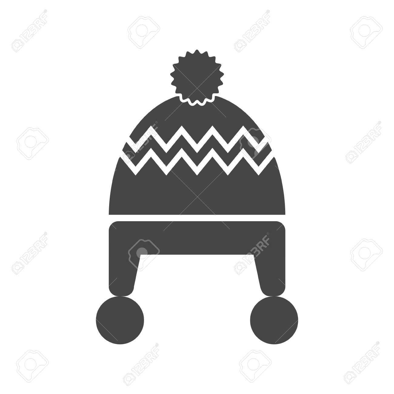 64ac99ddd22 Winter Snowboard Cap Icon - Vector Illustration Royalty Free ...