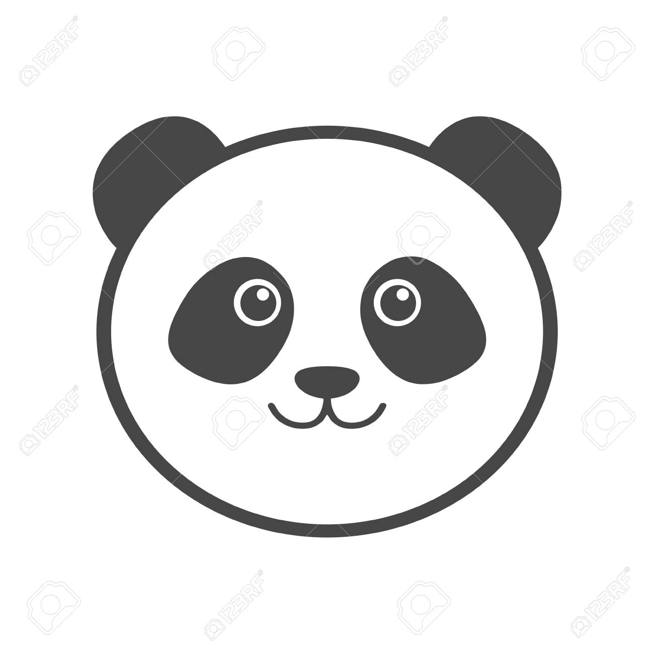 panda icon vector illustration royalty free cliparts vectors and