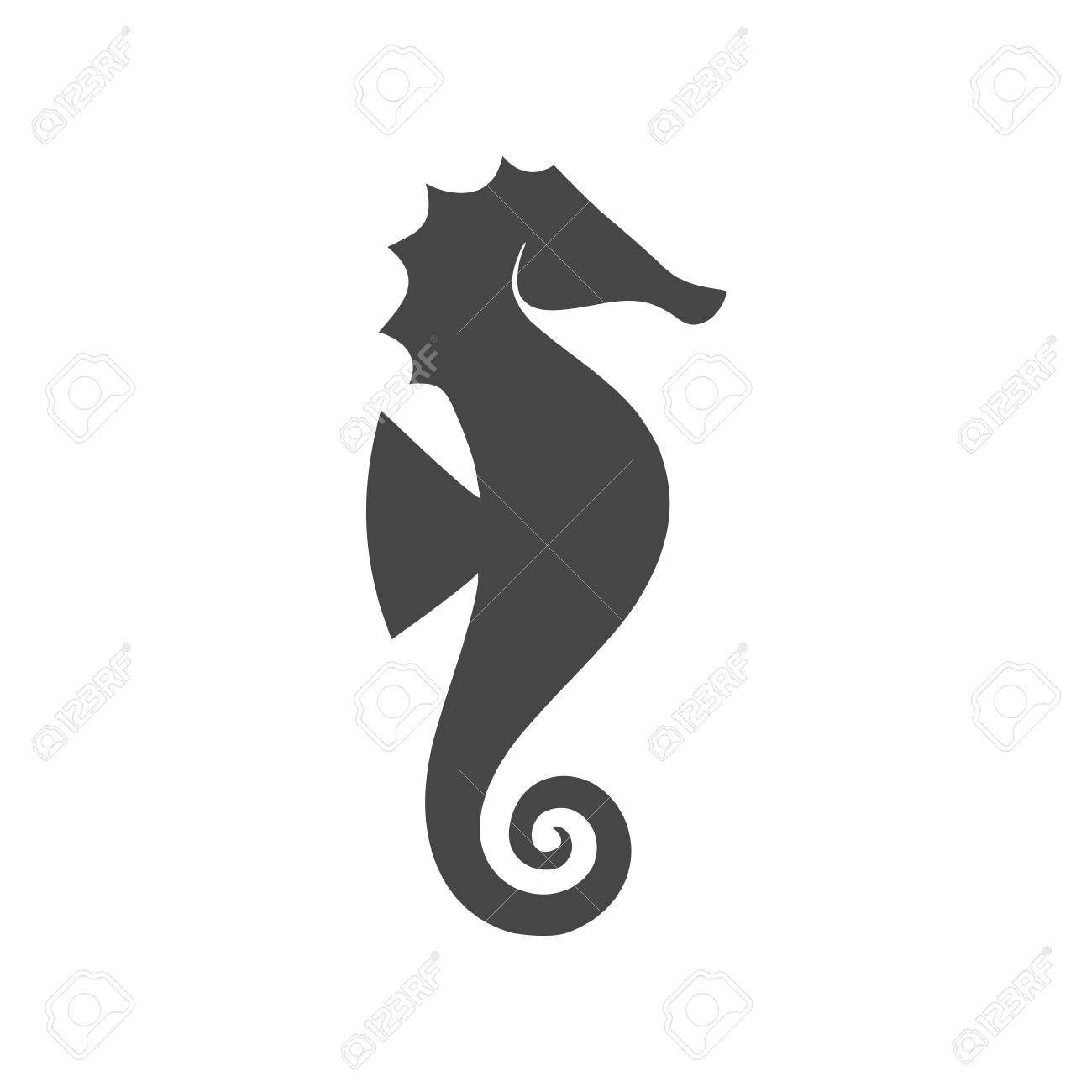 Sea Horse Vector Illustration Royalty Free Cliparts Vectors And Stock Illustration Image 90823943