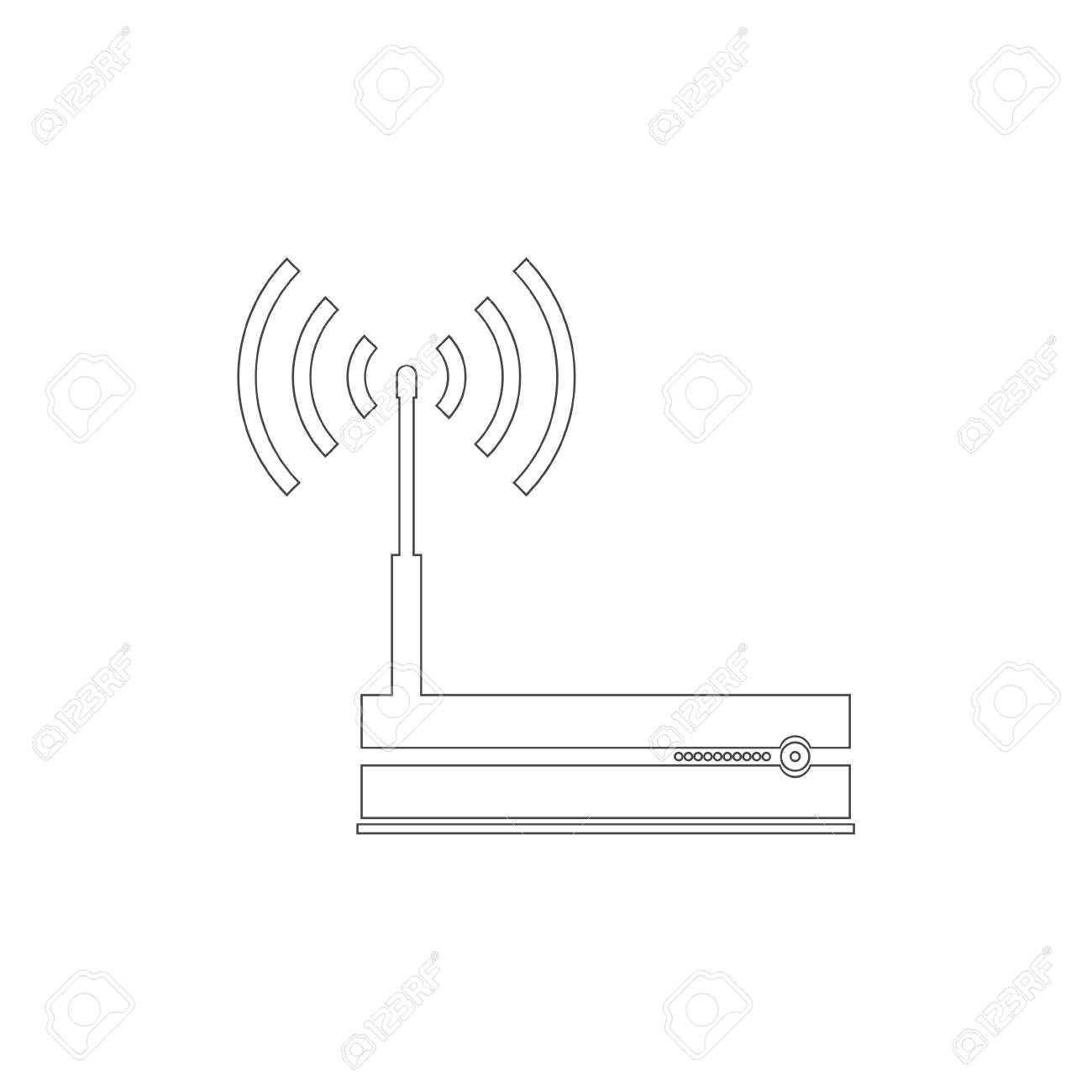 router icon, modem router stock vector - 111097319