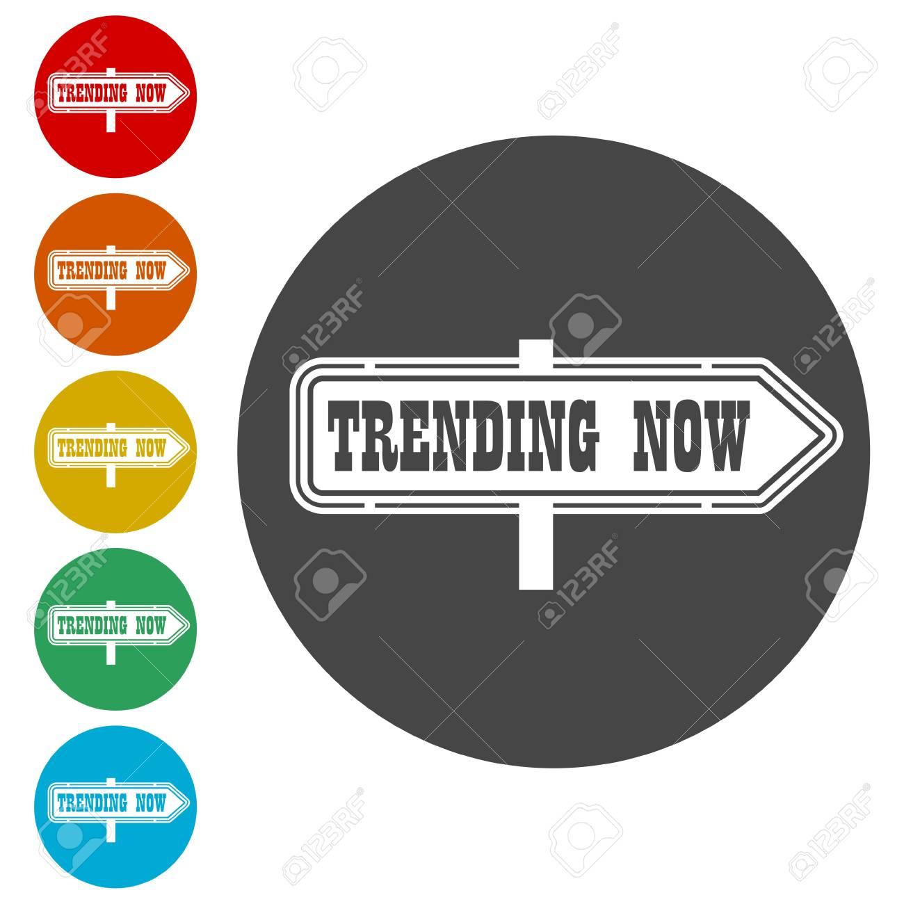 Trending now icon - 113410621