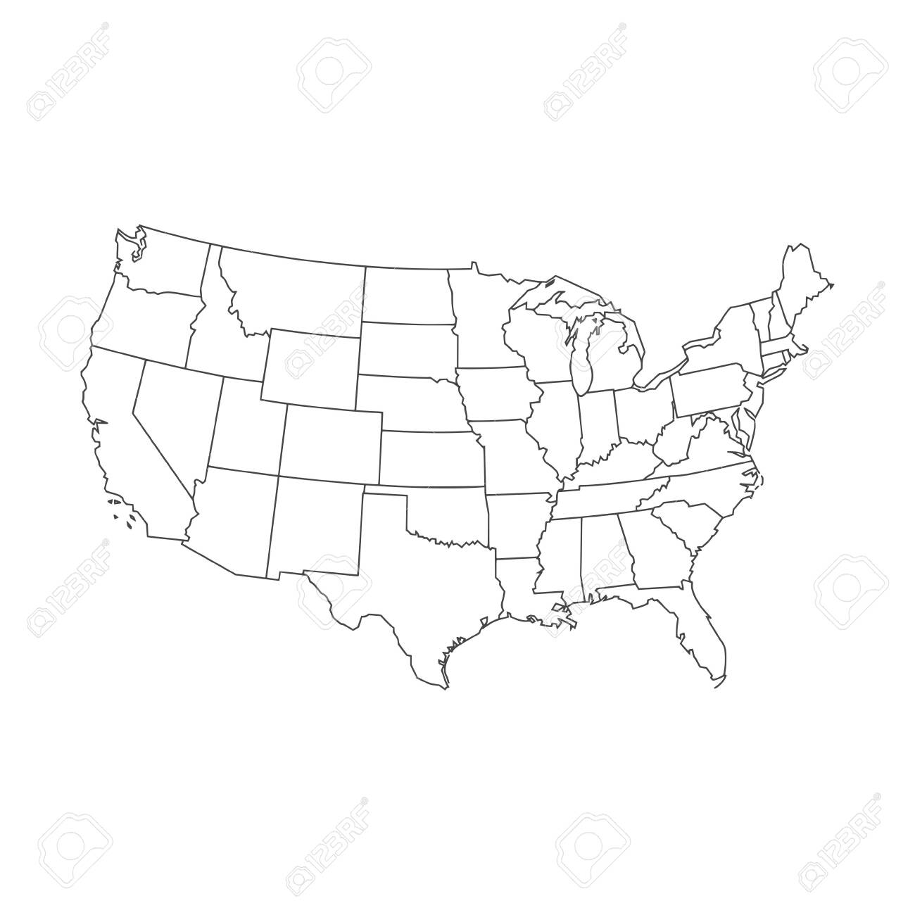 United States of American Map - 138284018