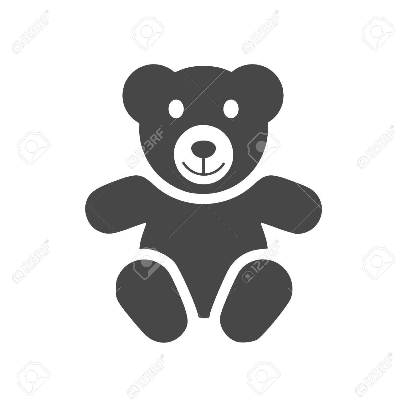 Cute smiling teddy bear icon - 138293926