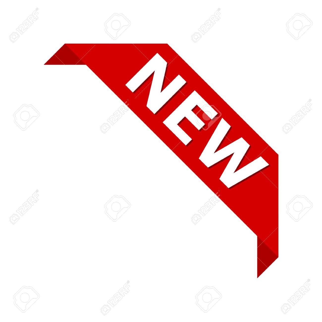 New product corner ribbon banner label vector icon - 143235621