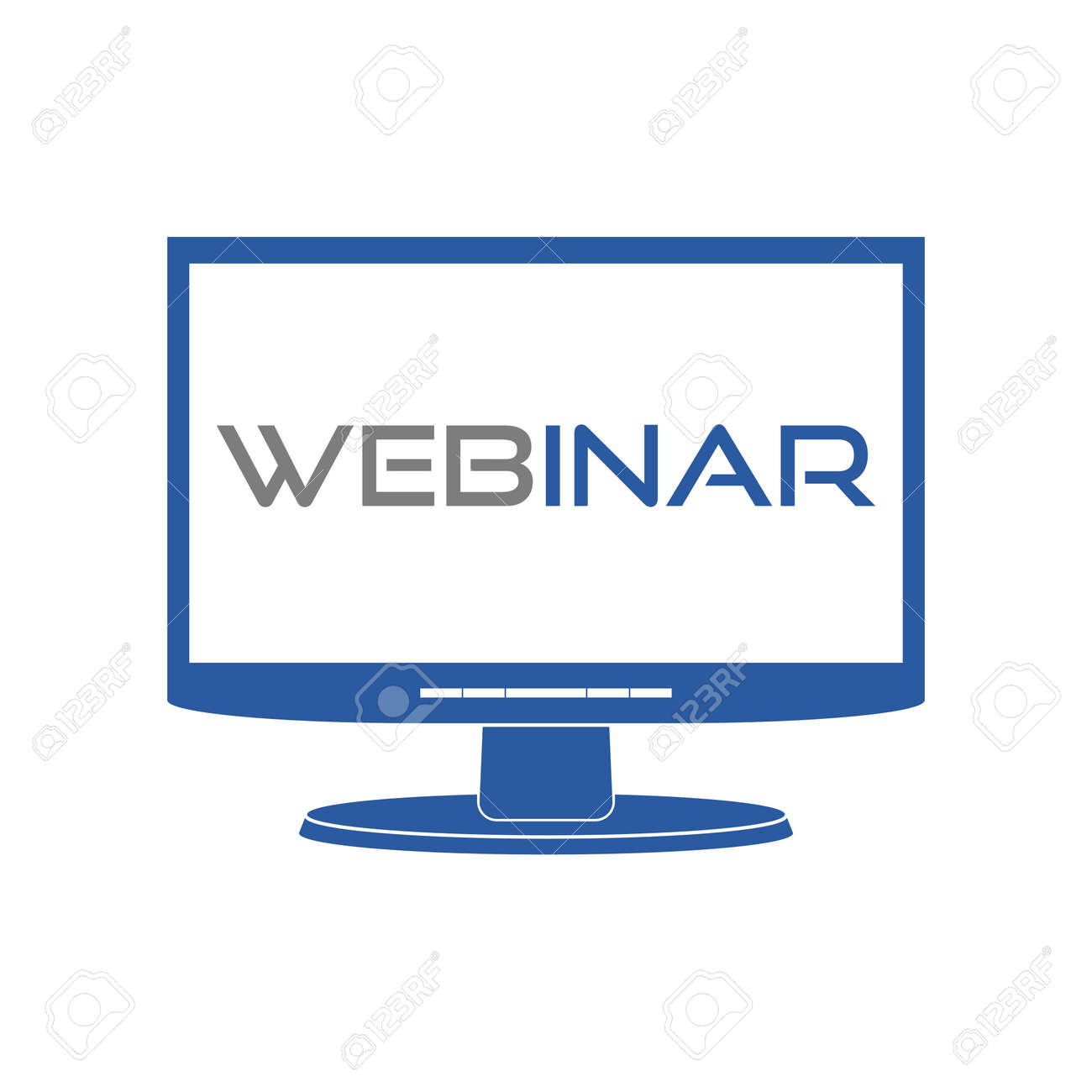 Webinar icon monitor icon - 154692415