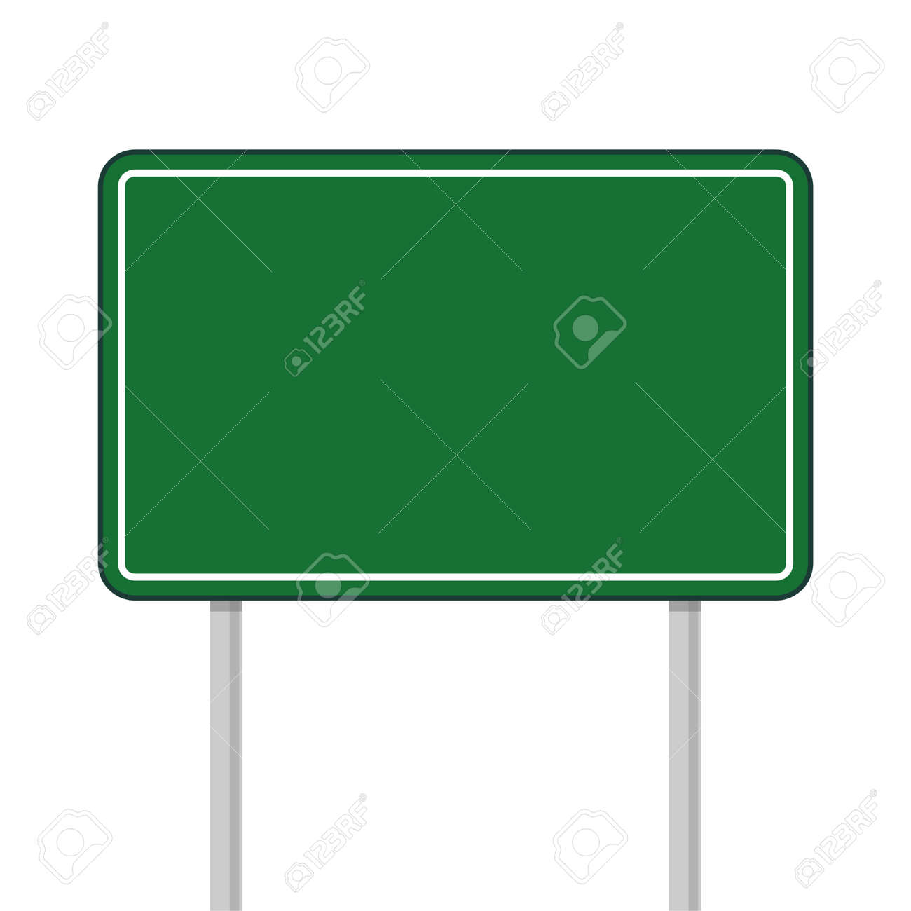 Road green traffic sign, Highway or street city sign on white background - 155461833