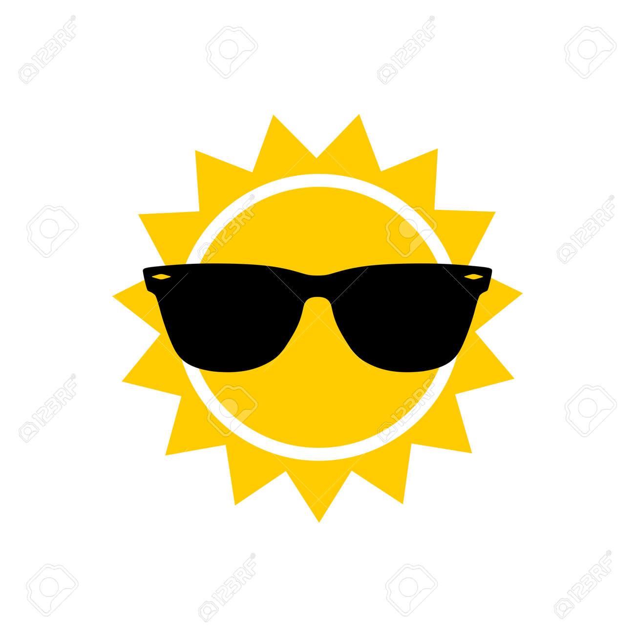 Sunglasses and sun icon, sign or logo - 159406224