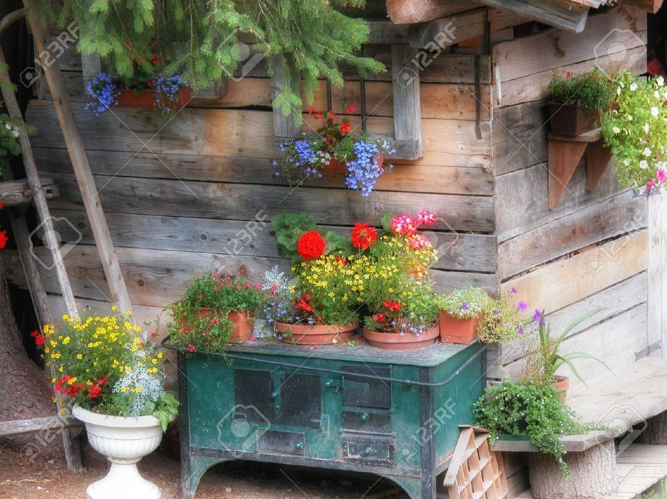 Beautiful Cottage Flower Garden cottage garden images & stock pictures. royalty free cottage