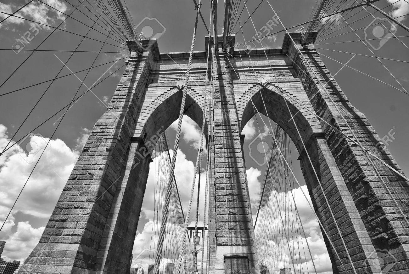 Brooklyn Bridge Architecture, New York City Stock Photo   9278928