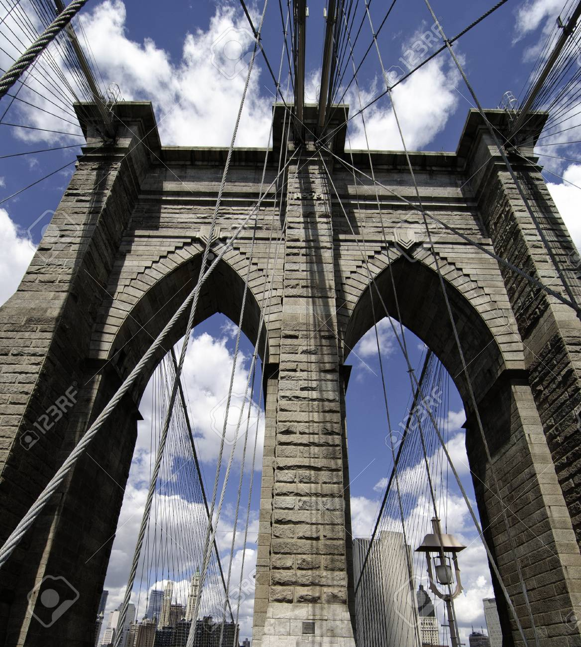 Detail of Brooklyn Bridge in New York City, U.S.A. Stock Photo - 11109181