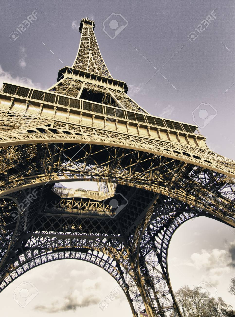 Colors of Eiffel Tower in Winter, Paris Stock Photo - 12414143