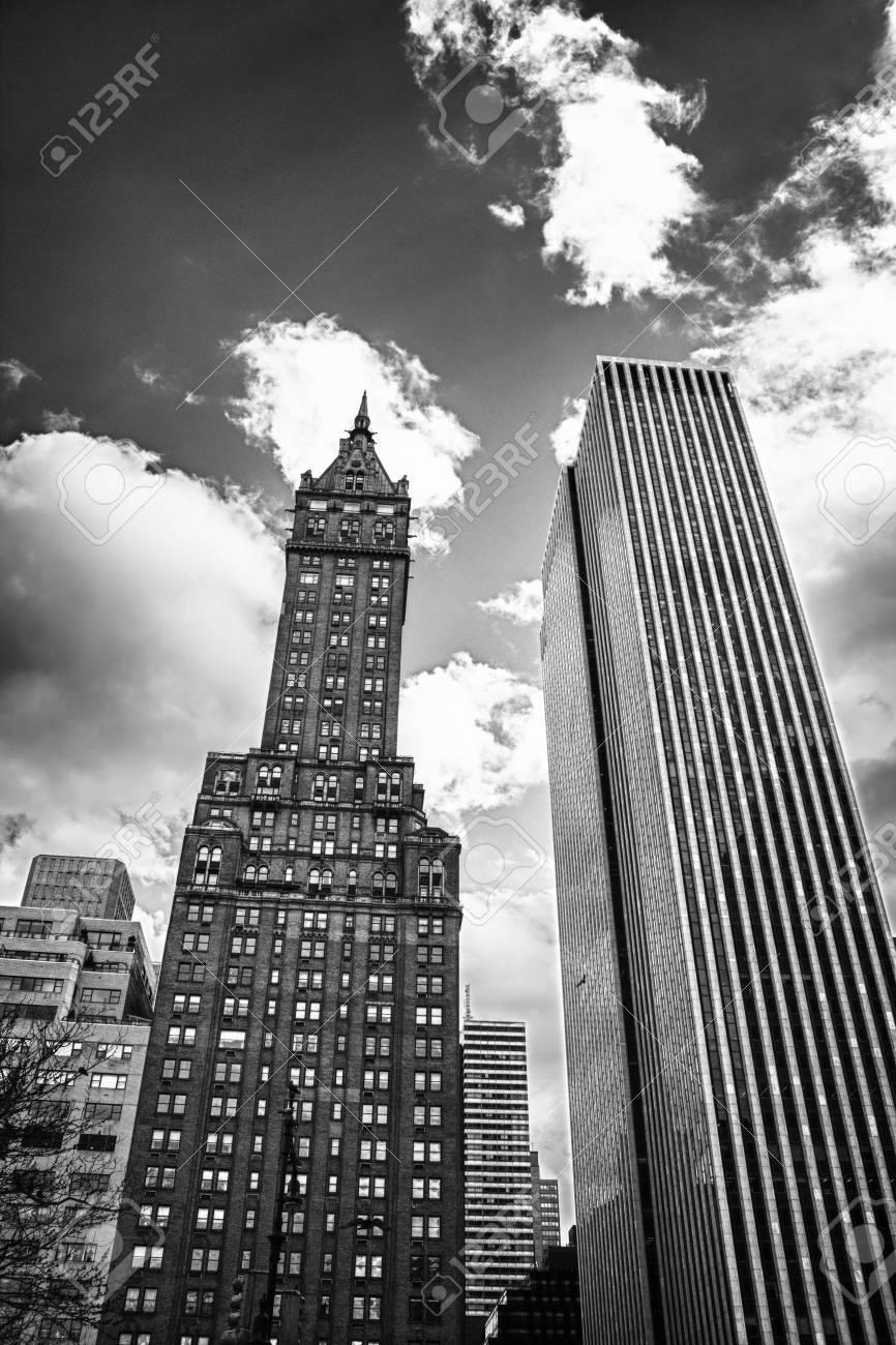 Upward view of New York City Skyscrapers, United States Stock Photo - 13047721