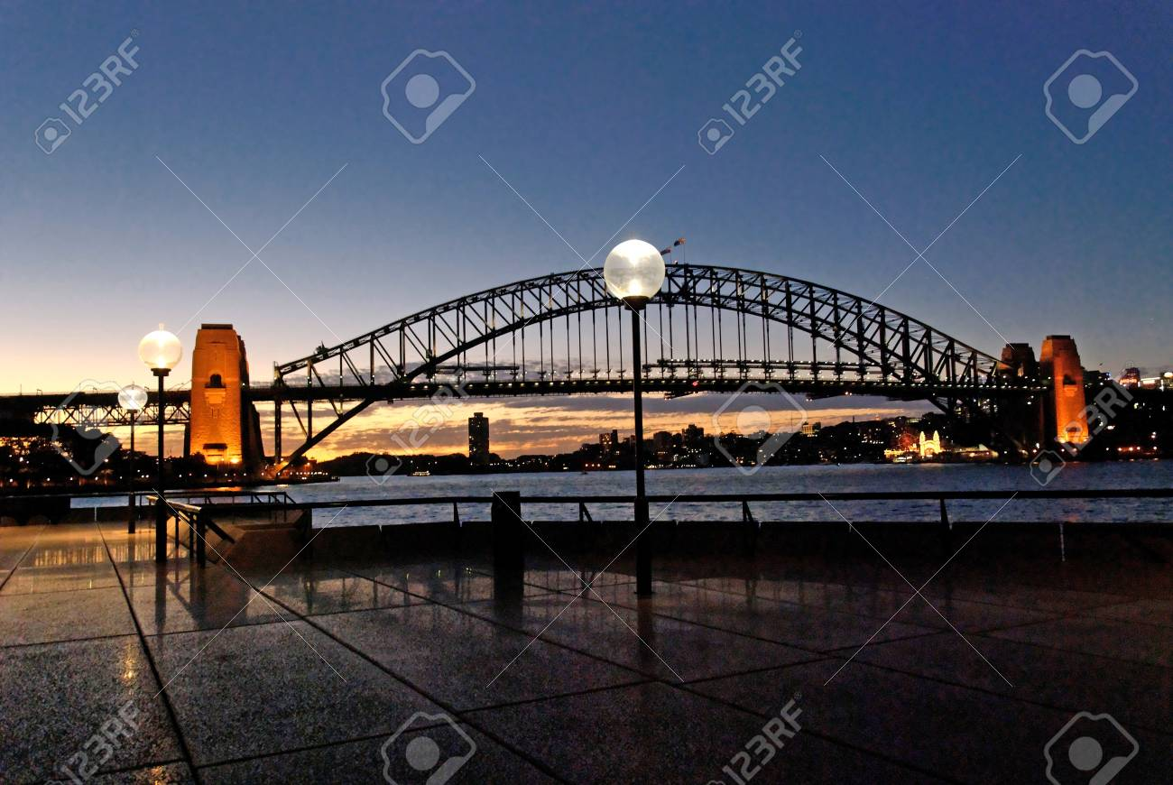 Sydney Harbour at Night, New South Wales, Australia Stock Photo - 13232368