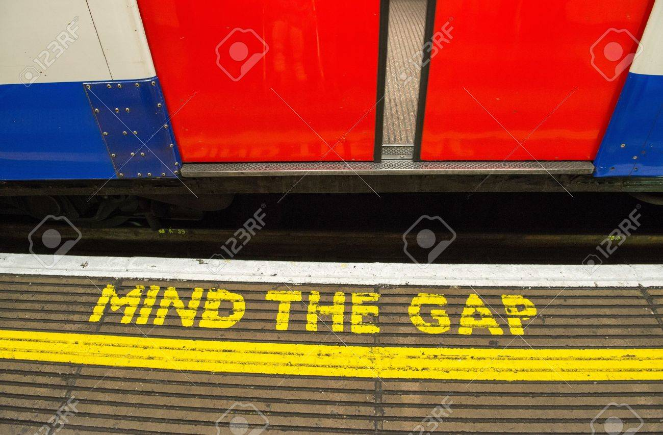 "Image result for ""Mind the Gap"" metro warning, photo?"