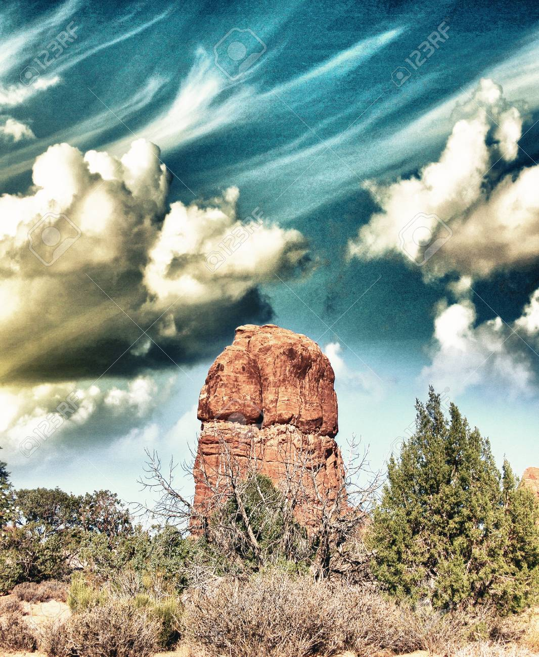 Rock Formations In Arches National Park, Mohab - Utah. Stock Photo - 22555580