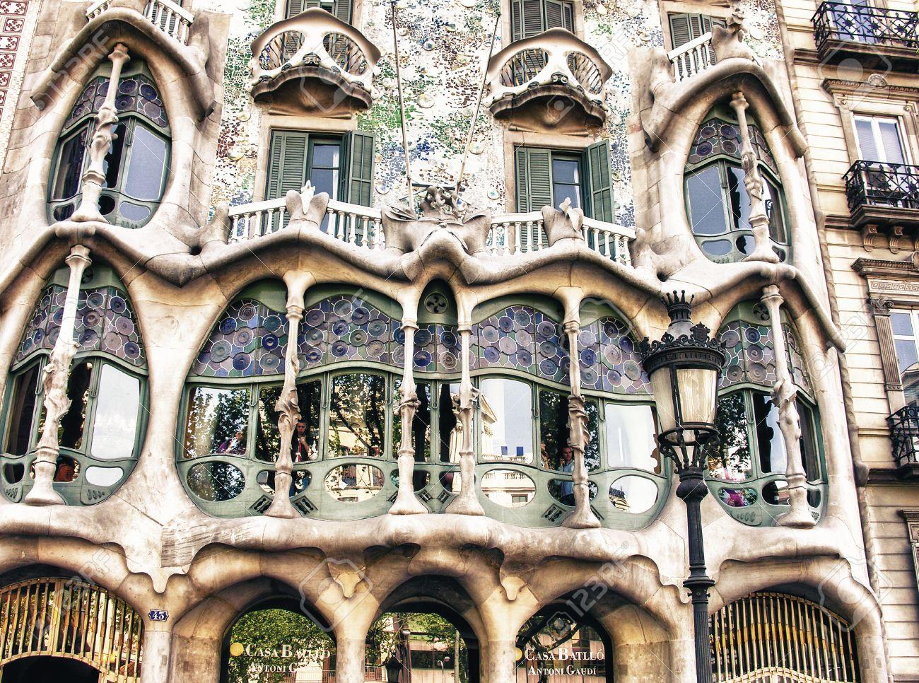 barcelona spain may 24 casa batllo facade the famous building