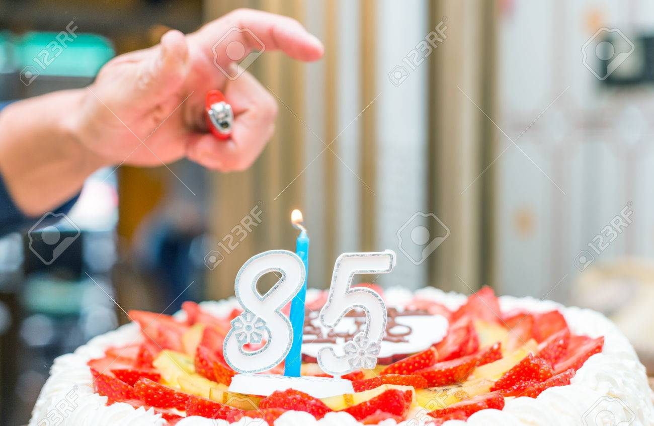 85th Birthday Cake Stock Photo Picture And Royalty Free Image