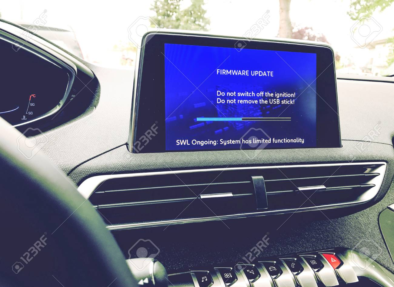 Firmware update on a modern car
