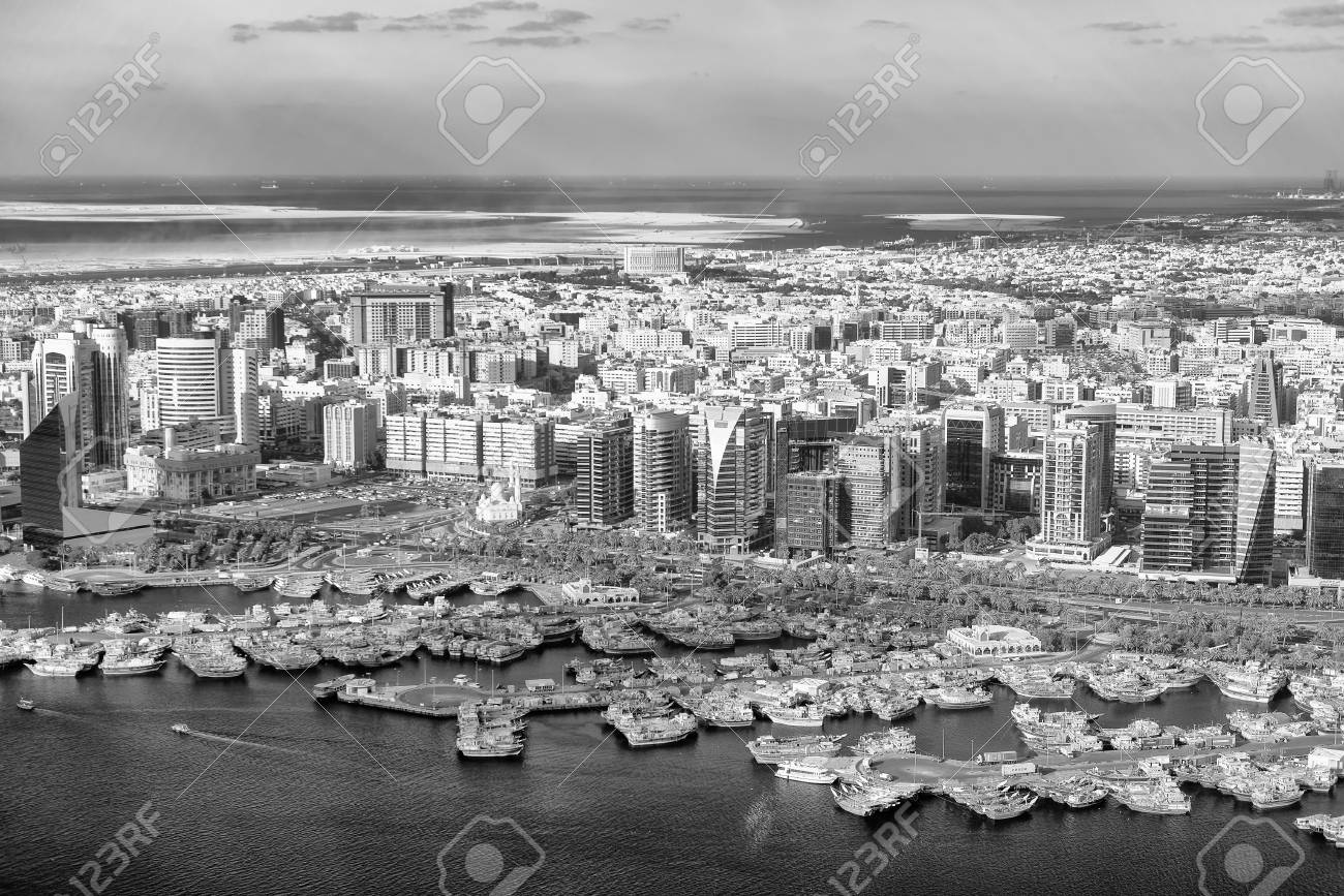 Dubai from helicopter