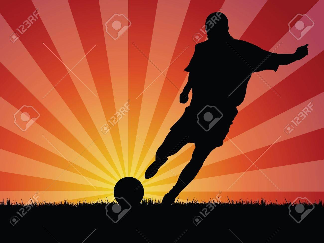 soccer player Stock Vector - 10231653