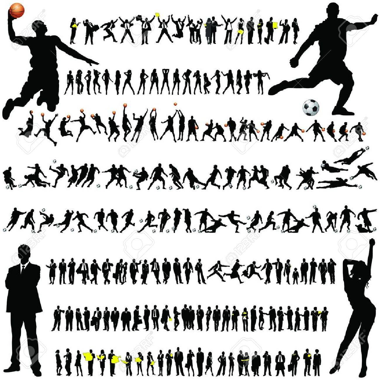 ordinary people silhouette collection Stock Vector - 10262508