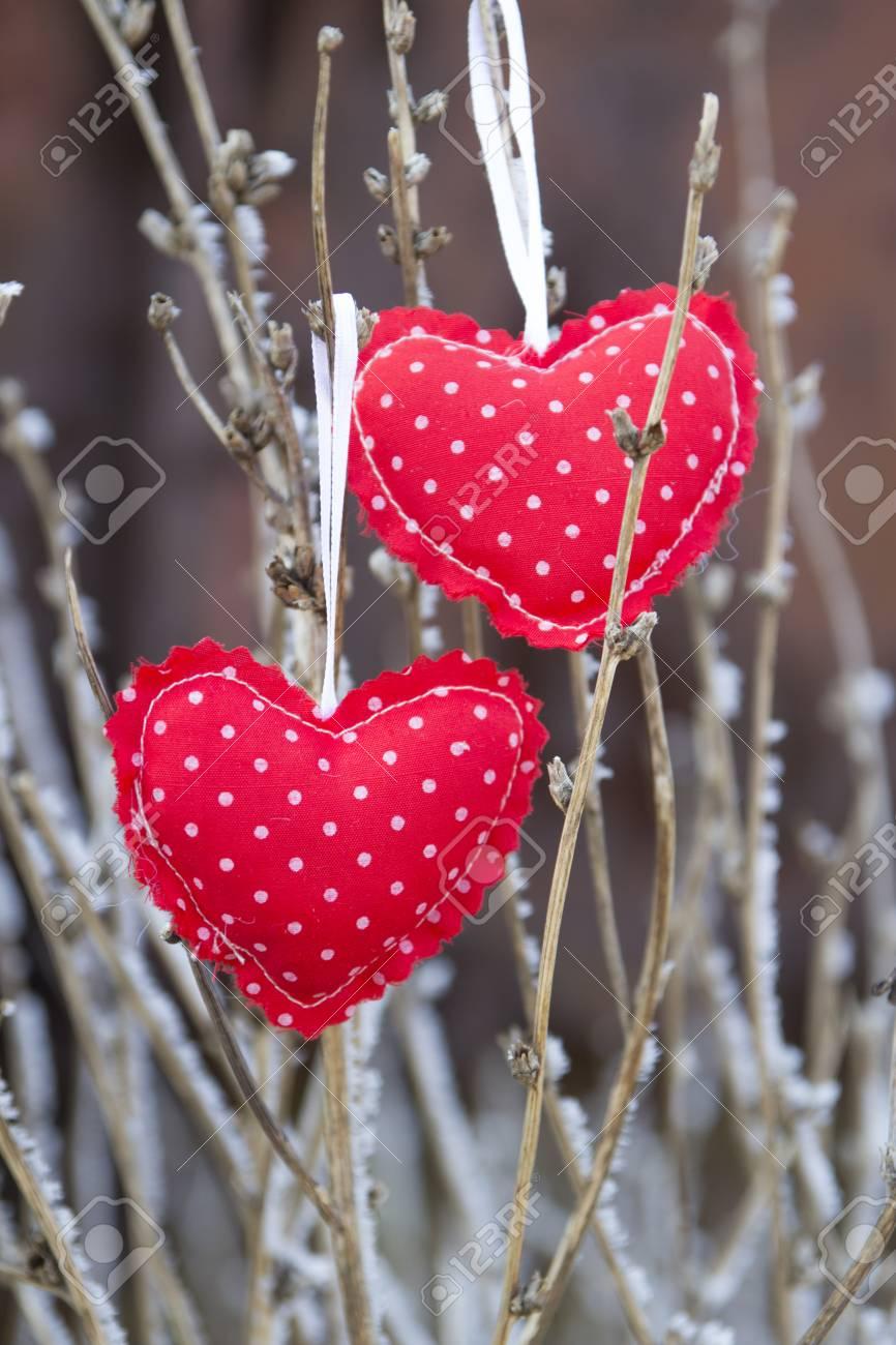 Décoration Coeur-nature Pour La Saint-Valentin Banque D'Images Et on