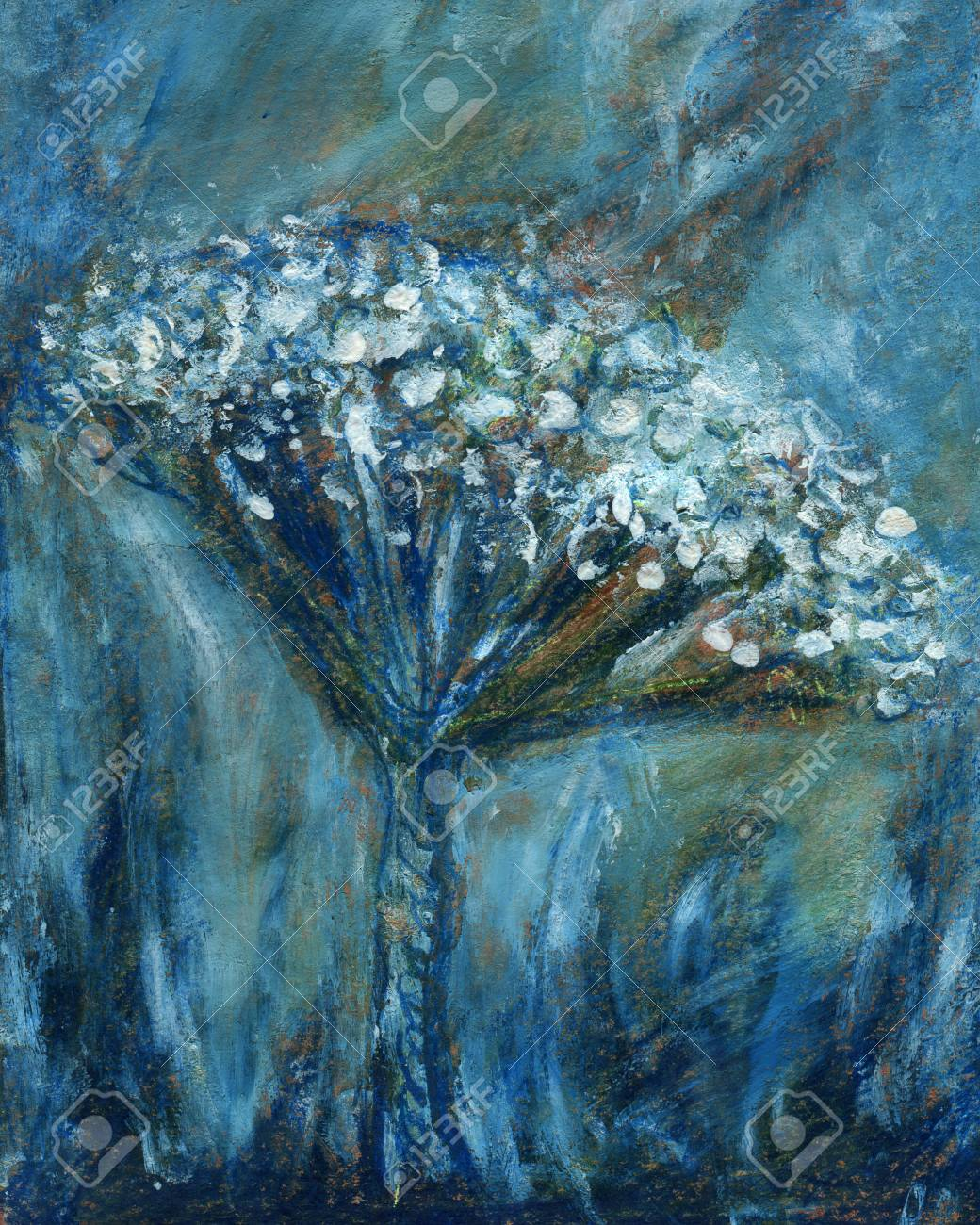Abstract Flower Art Paintings