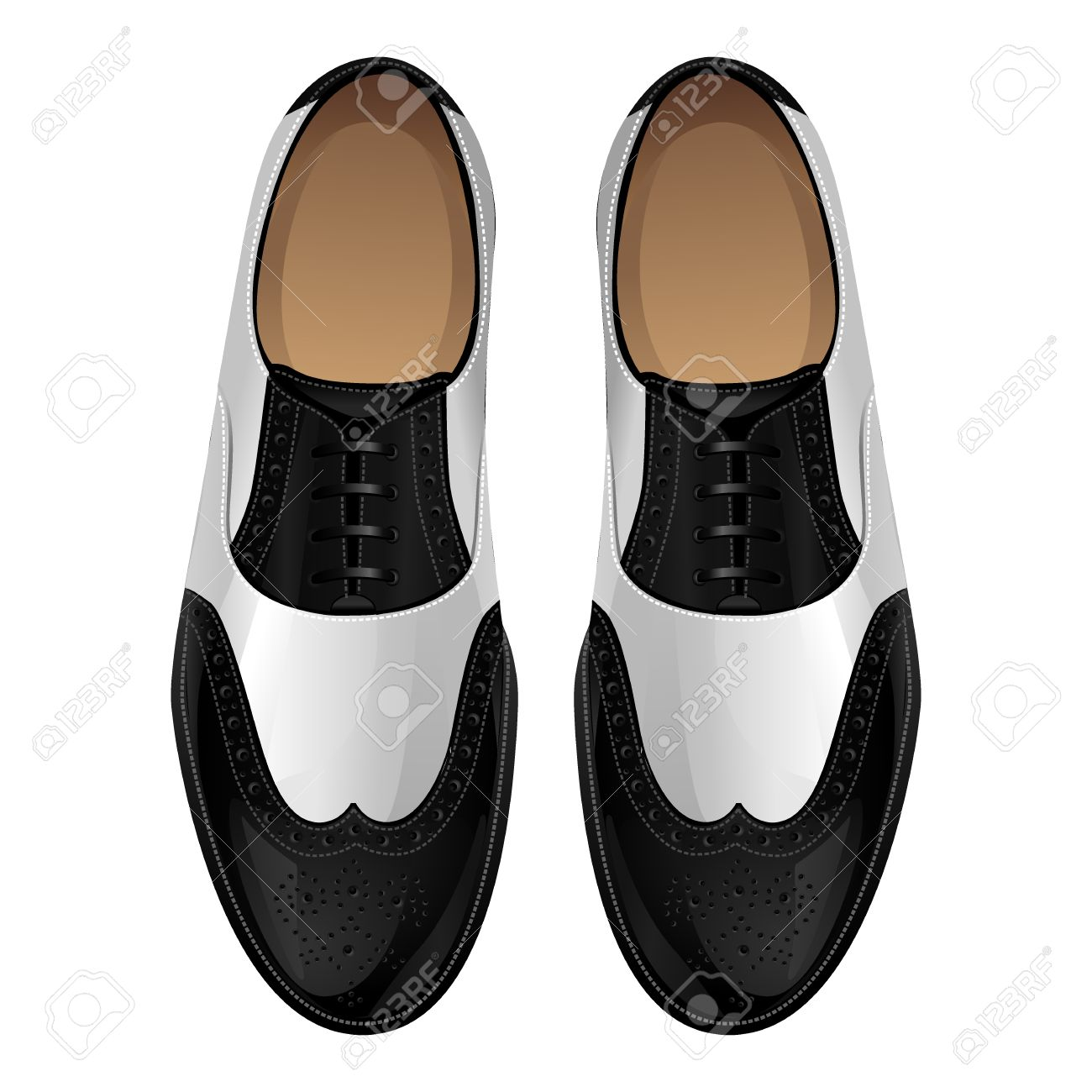 Black And White Classic Oxford Shoes Shoes In Retro Style