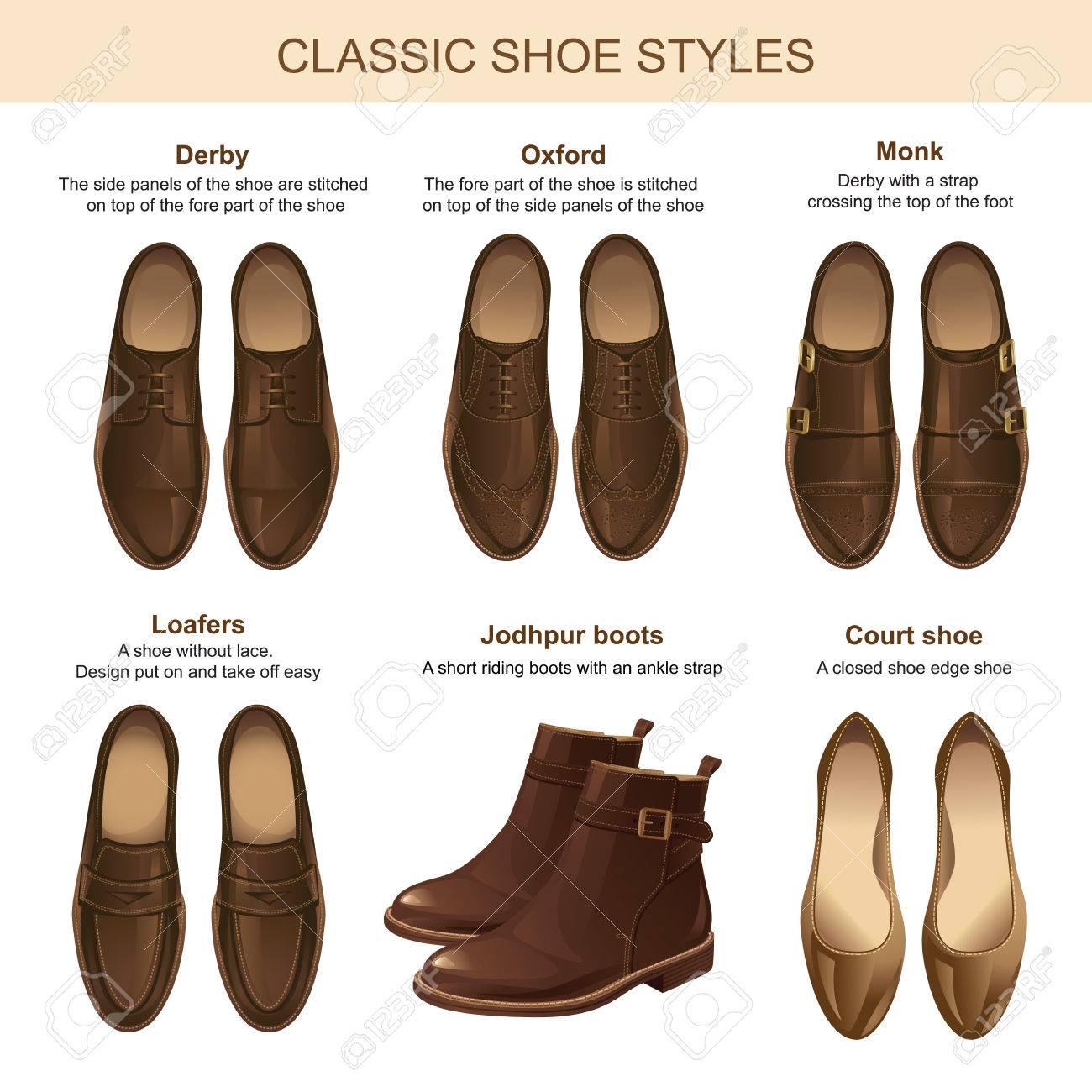 889ceb3fe9816 Estilo de zapato clásico. Conjunto de zapatos marrones de cuero del hombre  y la mujer