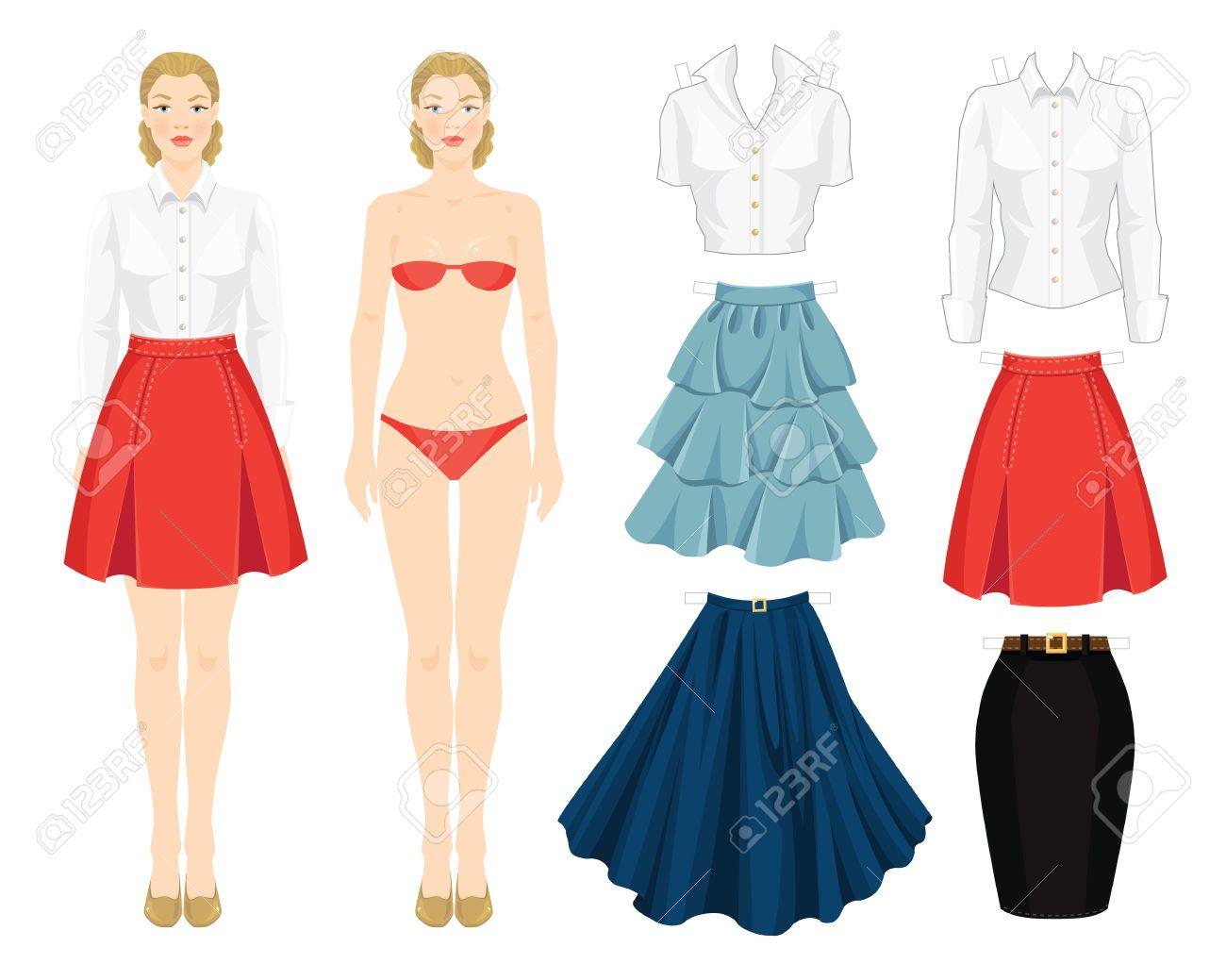 Poupée de papier avec des vêtements modèle de corps ensemble de