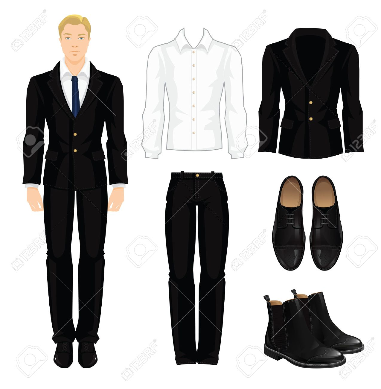 Vector Illustration Of Corporate Dress Code Office Uniform